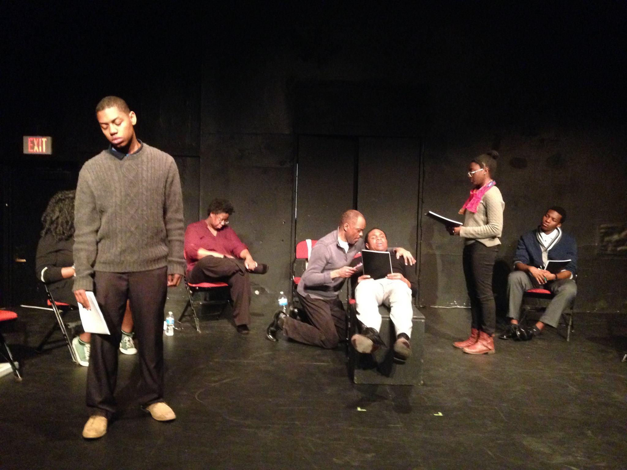 """""""Before It Hits Home"""" rehearsal photo. Photo courtesy of Ian Watson."""
