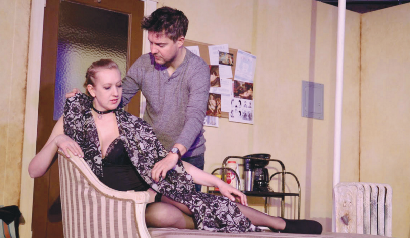 Actors Maggie Roop and James Hicks star in TheatreLAB's latest production of the play that deals with highly sexual themes. Photo courtesy of TheatreLAB