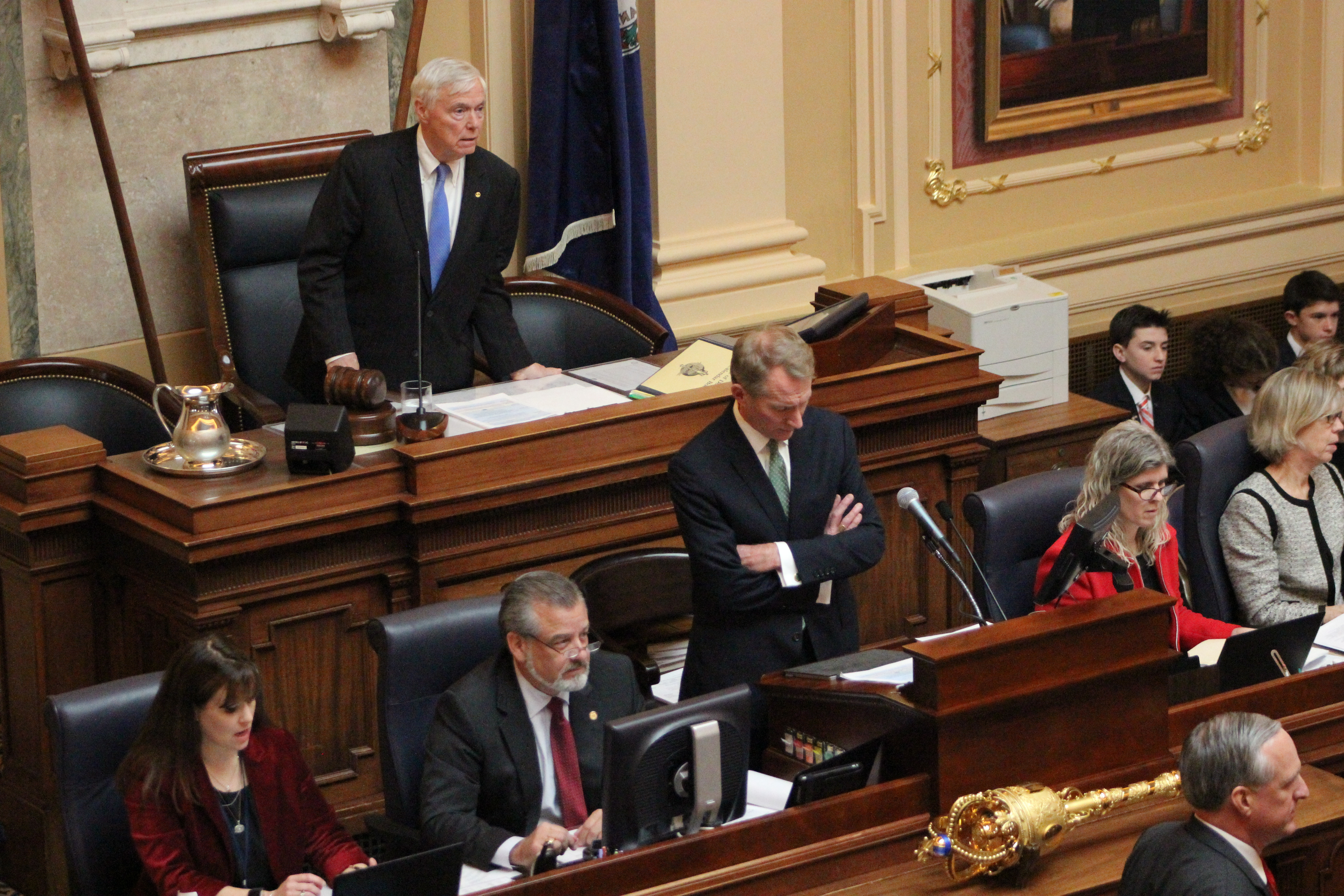 House Speaker Bill Howell calls to order the Virginia House of Delegates. Photo by Mary Lee Clark.