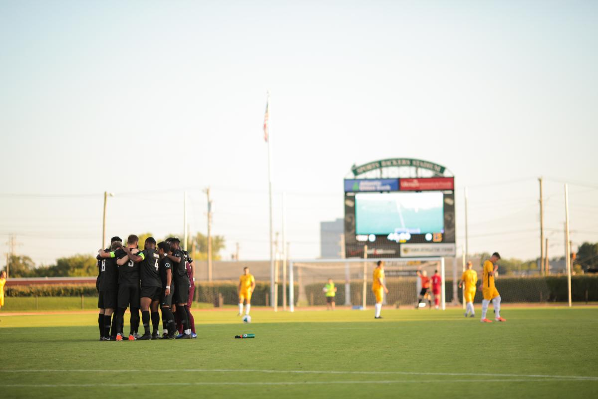 Men's soccer defeated ETSU Aug. 30 1-0. Photo by Jon Mirador